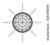 compass tattoo vector design | Shutterstock .eps vector #535198045