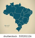modern map   brasil with... | Shutterstock . vector #535201126