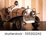 White Classic Car Model Over...