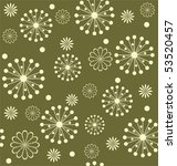 seamless floral background | Shutterstock .eps vector #53520457