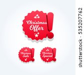 christmas offer  special   sale ... | Shutterstock .eps vector #535207762