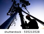 silhouette of technician...   Shutterstock . vector #535213528