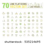 vector graphic set of icons in... | Shutterstock .eps vector #535214695