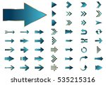 arrow vector blue curve line up ... | Shutterstock .eps vector #535215316