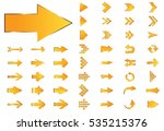 arrow vector yellow curve line... | Shutterstock .eps vector #535215376