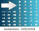 arrow vector silver curve line...   Shutterstock .eps vector #535215418