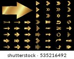arrow vector gold curve line up ... | Shutterstock .eps vector #535216492