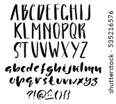 hand drawn font made by dry... | Shutterstock .eps vector #535216576