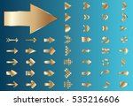 arrow vector gold curve line up ... | Shutterstock .eps vector #535216606