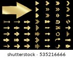 arrow vector gold curve line up ... | Shutterstock .eps vector #535216666