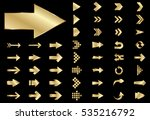 arrow vector gold curve line up ... | Shutterstock .eps vector #535216792