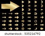 arrow vector gold curve line up ... | Shutterstock .eps vector #535216792