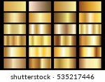 Gold gradient background vector icon texture metallic illustration for frame, ribbon, banner, coin and label. Realistic abstract golden design seamless pattern. Elegant light and shine vector template | Shutterstock vector #535217446