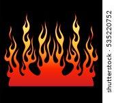 Flame Vector Car  Fire Tribal...