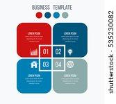 infographics template four... | Shutterstock .eps vector #535230082