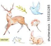 vector watercolor  illustration ... | Shutterstock .eps vector #535231285
