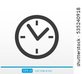 clock vector icon | Shutterstock .eps vector #535240918