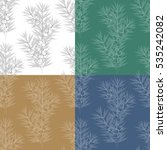 set of seamless patterns with... | Shutterstock .eps vector #535242082