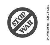 stop war sign  concept icon....