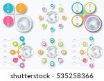 set with infographics. data and ... | Shutterstock .eps vector #535258366