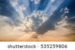 sunset or sunrise with cloud... | Shutterstock . vector #535259806