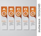 design clean number banners... | Shutterstock .eps vector #535262485