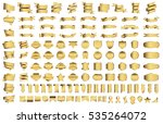 ribbon banner label gold vector ... | Shutterstock .eps vector #535264072