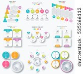 set with infographics. data and ... | Shutterstock .eps vector #535266112