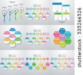 set with infographics. data and ... | Shutterstock .eps vector #535266526