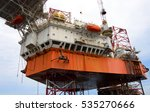 offshore oil rig drilling... | Shutterstock . vector #535270666