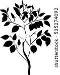 silhouette of lemon tree    Shutterstock . vector #535274092