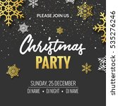 christmas party invitation... | Shutterstock .eps vector #535276246