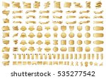 banner ribbon label gold vector ... | Shutterstock .eps vector #535277542