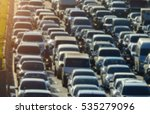 blurred traffic jam in bangkok... | Shutterstock . vector #535279096