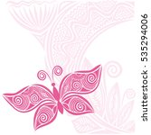 beautiful butterfly and floral... | Shutterstock .eps vector #535294006