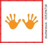 stop hand icon vector   Shutterstock .eps vector #535296718