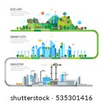 a set of three illustrations  ... | Shutterstock .eps vector #535301416