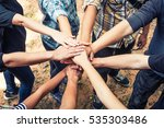 group of diverse multiethnic... | Shutterstock . vector #535303486