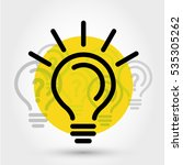yellow idea illustration with... | Shutterstock .eps vector #535305262