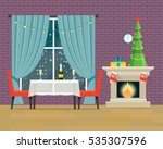 living room interior with... | Shutterstock .eps vector #535307596