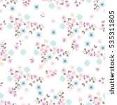 simple cute pattern in small... | Shutterstock .eps vector #535311805