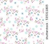 simple cute pattern in small... | Shutterstock .eps vector #535311805