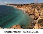 view on praia de porto de mos   ... | Shutterstock . vector #535312036