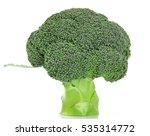 broccoli vegetable on white... | Shutterstock . vector #535314772