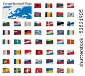 europe national flags vector... | Shutterstock .eps vector #53531905