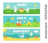 summer months calendar... | Shutterstock .eps vector #535321966