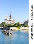 Tourist Cruise In River Seine...