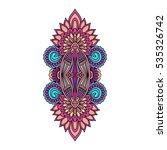 vector ornamental lotus flower  ... | Shutterstock .eps vector #535326742