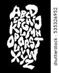 ragged horror font. vector... | Shutterstock .eps vector #535326952