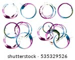 Abstract Circle Acrylic And...